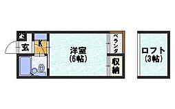 シャトー長岡[301号室]の間取り
