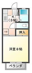 リバティ千代田[2階]の間取り