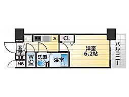 Osaka Metro堺筋線 恵美須町駅 徒歩5分の賃貸マンション 6階1Kの間取り