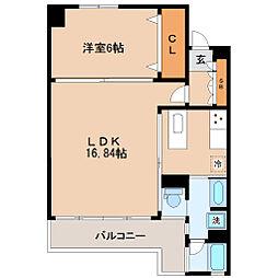仙台市営南北線 北四番丁駅 徒歩7分の賃貸マンション 10階1LDKの間取り