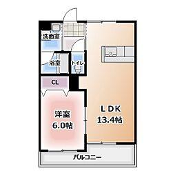 グレースコート神戸[305号室]の間取り
