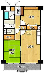 加島第6マンション[305号室]の間取り