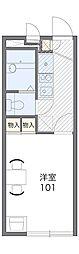 西武拝島線 武蔵砂川駅 徒歩23分の賃貸アパート 2階1Kの間取り