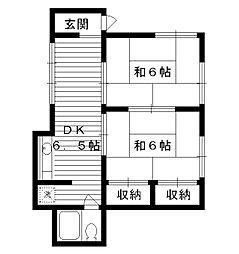 東京都中野区江原町1丁目の賃貸アパートの間取り