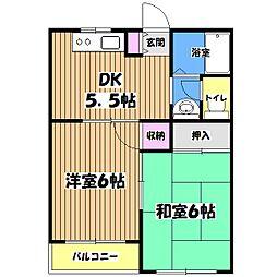東京都小金井市貫井南町2丁目の賃貸マンションの間取り