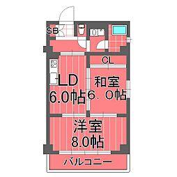 横浜天王町レジデンス[4階]の間取り