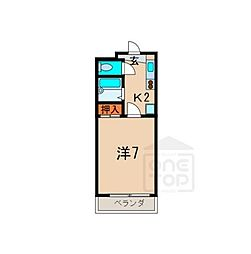 愛知県名古屋市天白区植田本町3丁目の賃貸マンションの間取り