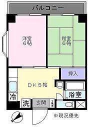 第2ケイアイマンション[202号室]の間取り