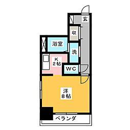 プチメゾン元浜館[8階]の間取り
