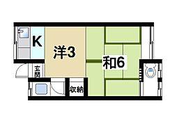 プレジデントハウスB[1階]の間取り