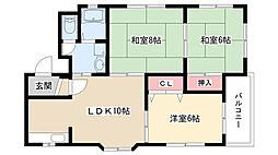 リバティー川本[2階]の間取り