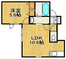 CANAAN[2階]の間取り