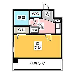 ダイアパレス上社第3 404号室[4階]の間取り