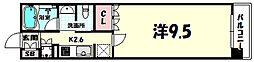 リーガル神戸三宮フラワーロード[3階]の間取り