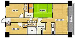 スカールTAKATA[6階]の間取り