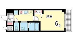 グランカリテ神戸WEST[702B号室]の間取り