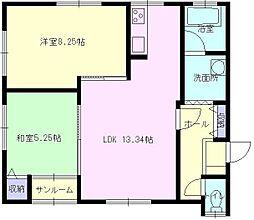 HOUSE木の実[201号室]の間取り