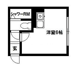 T-ROUTE菊水[318号室]の間取り