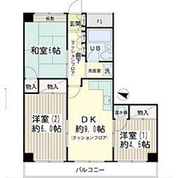 KOWA鶴見パールハイム[405号室]の間取り