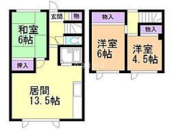 一棟二戸(5−8)/西嶋邸 3LDKの間取り
