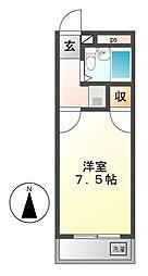 サンハイツ喜多山[5階]の間取り