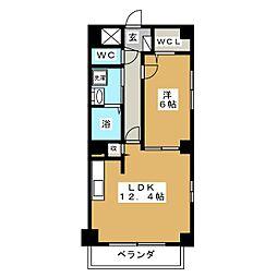 P−SQUARE Shumoku[7階]の間取り