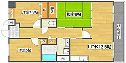 レジェロ住之江[2階]の間取り