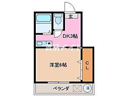 ハッピネスビル[2階]の間取り