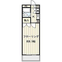 ミ・アドミラルII[3階]の間取り