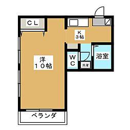 高久ダンススタジオ[3階]の間取り