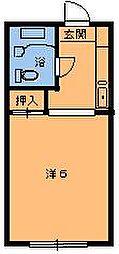 エステート都賀[103号室]の間取り