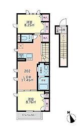 ロータスハイム[2階]の間取り