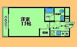 JR横浜線 矢部駅 徒歩3分の賃貸マンション 3階1Kの間取り