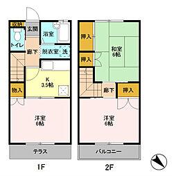 セントラルハイツII号館[2階]の間取り