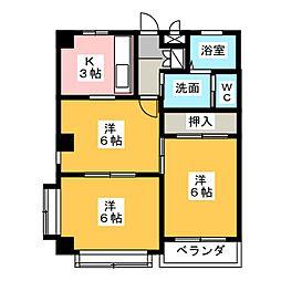 八千代乃郷[3階]の間取り