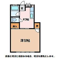 コーポマールム[1階]の間取り