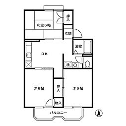 D-room ルネ松洋[2階]の間取り