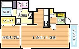 エスポワール萩原II[1階]の間取り
