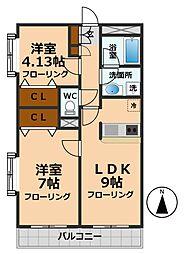 三秀烏山ホームズ[3階]の間取り