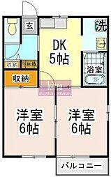 神奈川県横浜市磯子区洋光台4丁目の賃貸アパートの間取り
