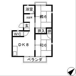 パティオインC棟[2階]の間取り