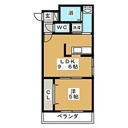 タカライーストプレイス[3階]の間取り