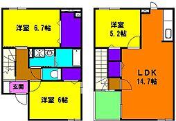 [テラスハウス] 静岡県浜松市東区笠井町 の賃貸【/】の間取り