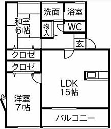 [タウンハウス] 福岡県久留米市津福本町 の賃貸【/】の間取り