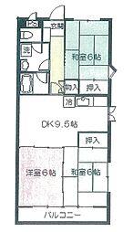 平成グリーンハイツ[4階]の間取り