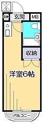 ドミール武蔵台[1階]の間取り