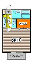 アム−ルMS[1階]の間取り