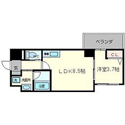 ライブガーデン新大阪[3階]の間取り