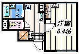 東京都葛飾区南水元4丁目の賃貸アパートの間取り