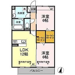 Recente和田町A[2階]の間取り